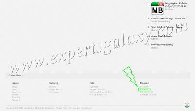 iTunes Store Redeem Option