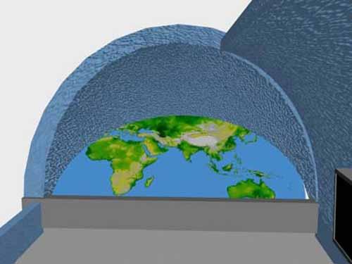 relief peta bumi fiber