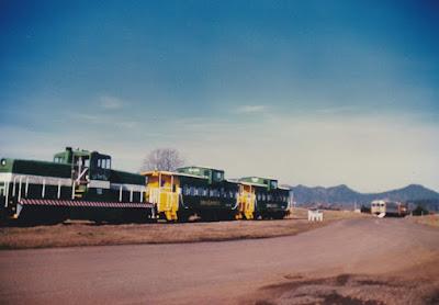 Oregon Coastline Express 80-Tonner #700 in Tillamook, Oregon, in March 1994