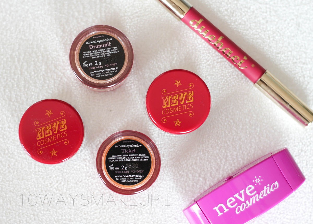 neve cosmetics art circus collezione