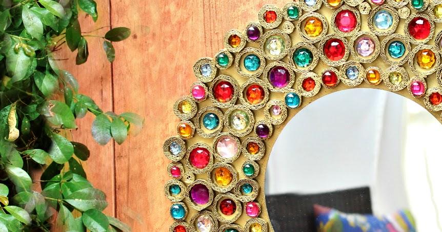Mark Montano Bejeweled Boho Cardboard Mirror