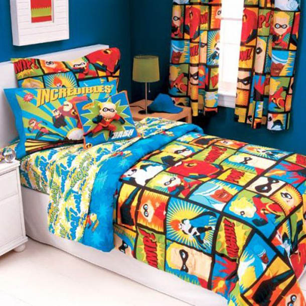 Superhero Bedding Theme For Boys Bedroom Interior Decorating Idea