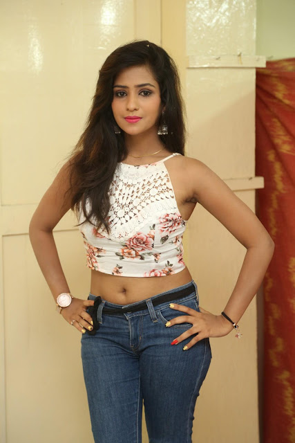 Deekshita Parvathi in a short crop top and Denim Jeans Spicy Pics Beautiful Actress Deekshita Parvathi January 2017 CelebxNext (2).JPG