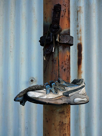 urban photography, urban decay, urban photo, contemporary, art, Sam Freek, trainer and rust,