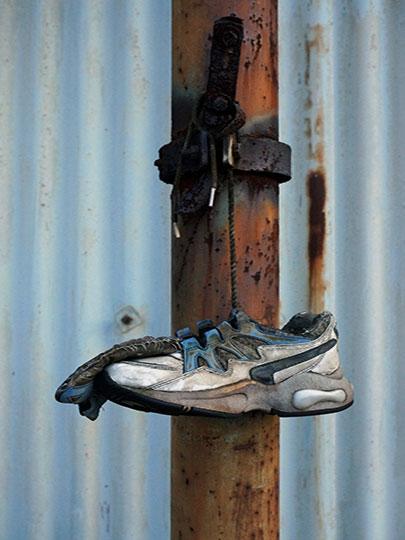 urban photography, urban decay, urban photo, contemporary, art, Sam Freek, trainer and rust,