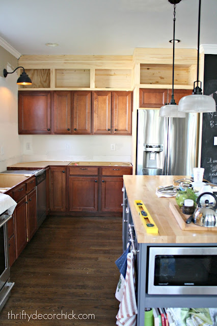 adding cabinets to ceiling DIY