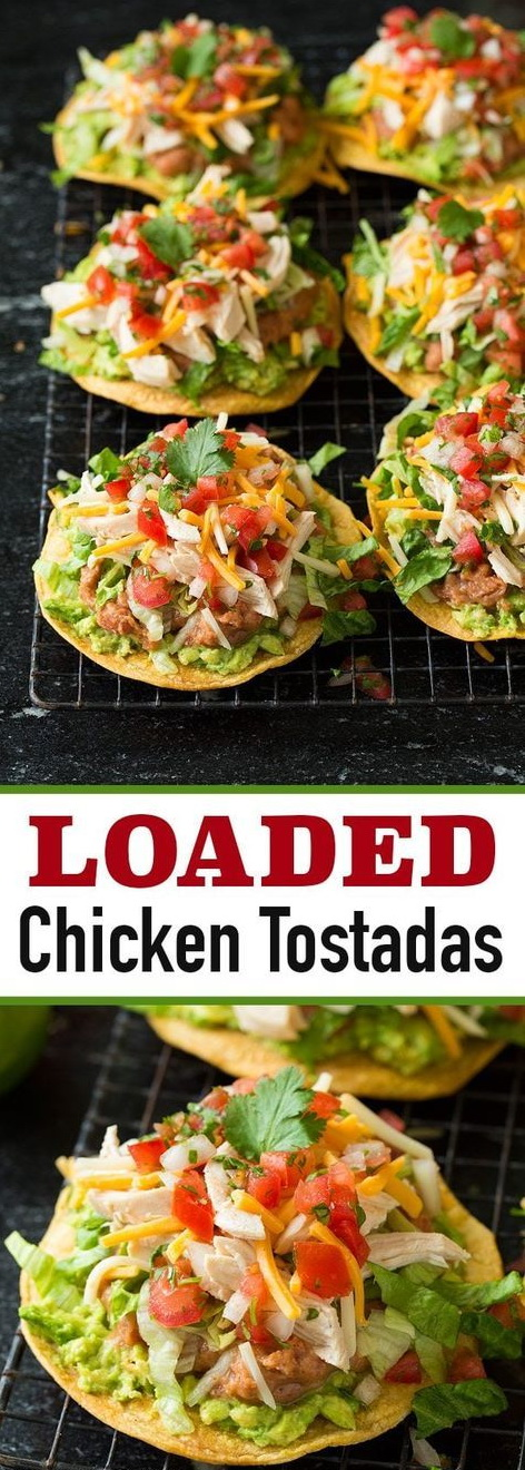 Loaded Chicken Tostada