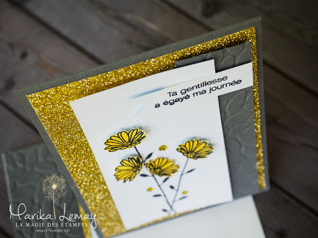 Carte Adorable marguerite Stampin' Up!