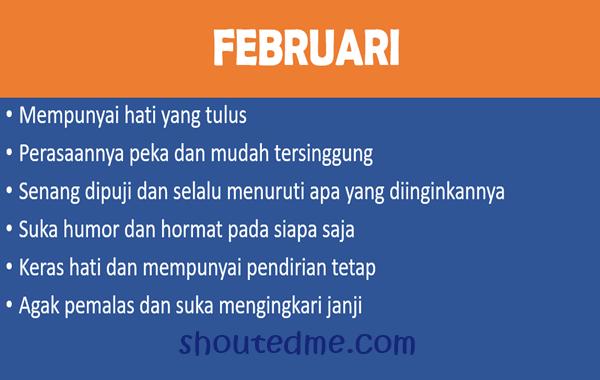 sifat dan karakter lahir bulan februari