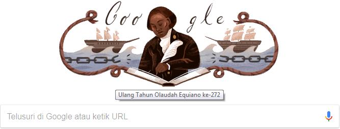 Google Doodle (ulang tahun  Olaudah Equiano ke-272)