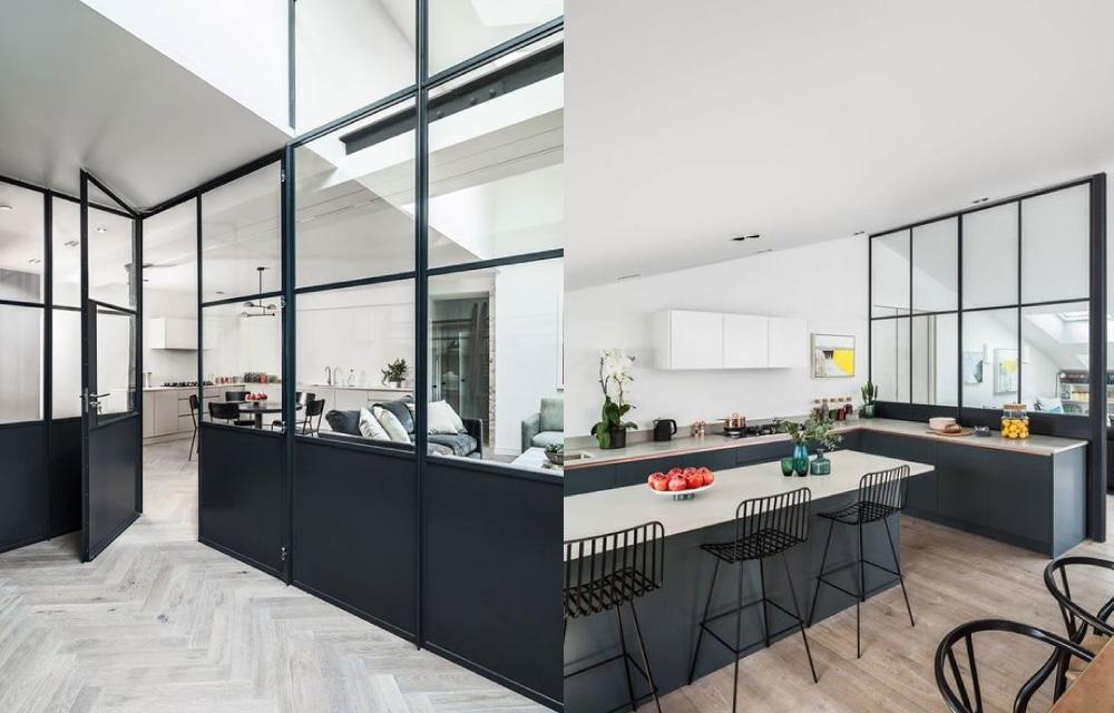 Favoloso Pareti di vetro e metallo per dividere gli ambienti | Blog di  MO94