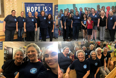 collage of group photos at Feed My Starving Children