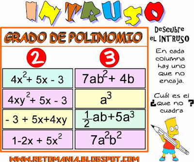 Intruso, Retos matemáticos, Desafíos matemáticos, Problemas matemáticos,