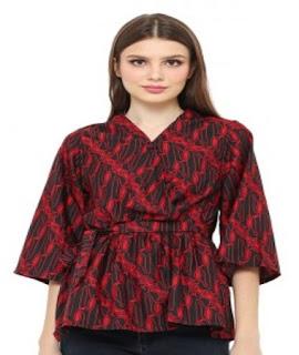 contoh baju batik atasan wanita