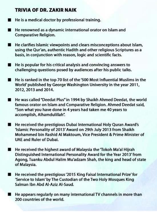 Siapa Dr Zakir Naik? Who is Dr Zakir Naik?