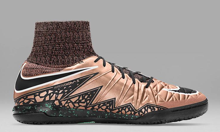 sports shoes d046f ed142 Nike Hypervenom X Proximo Metallic Red Bronze   Black   White   Green Glow