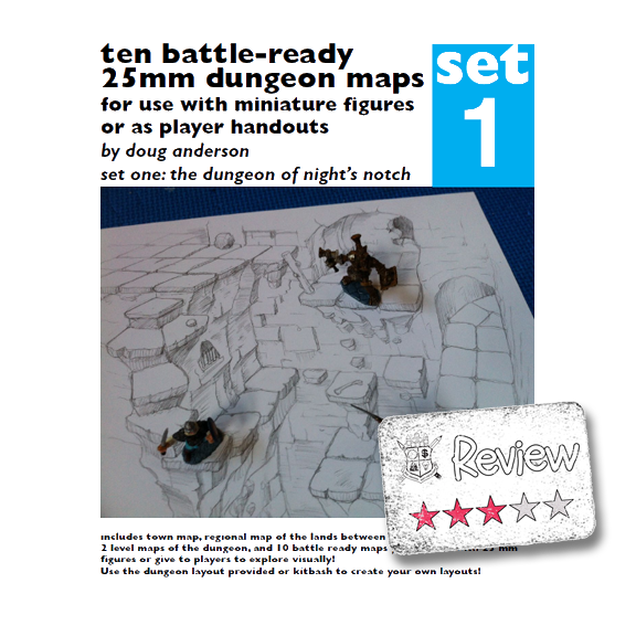 Frugal GM Review: Ten Battle-ready 25mm Dungeon Maps