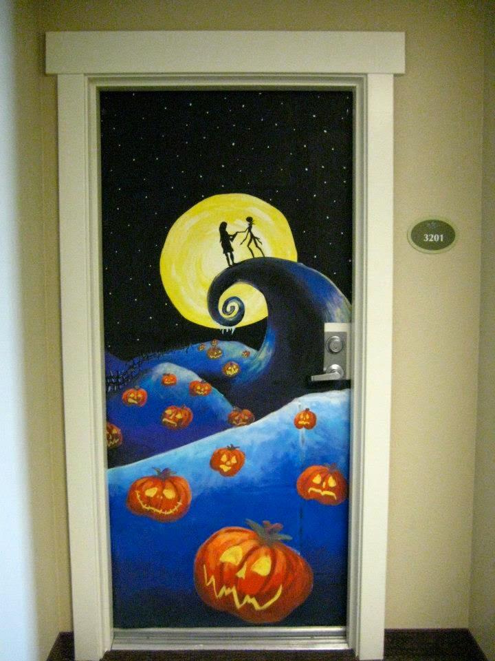 Katie Brinkman :: Fine Artist: Halloween Door Decorating ...