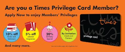 Times Bookstore Privilege Card Member Discount Promo