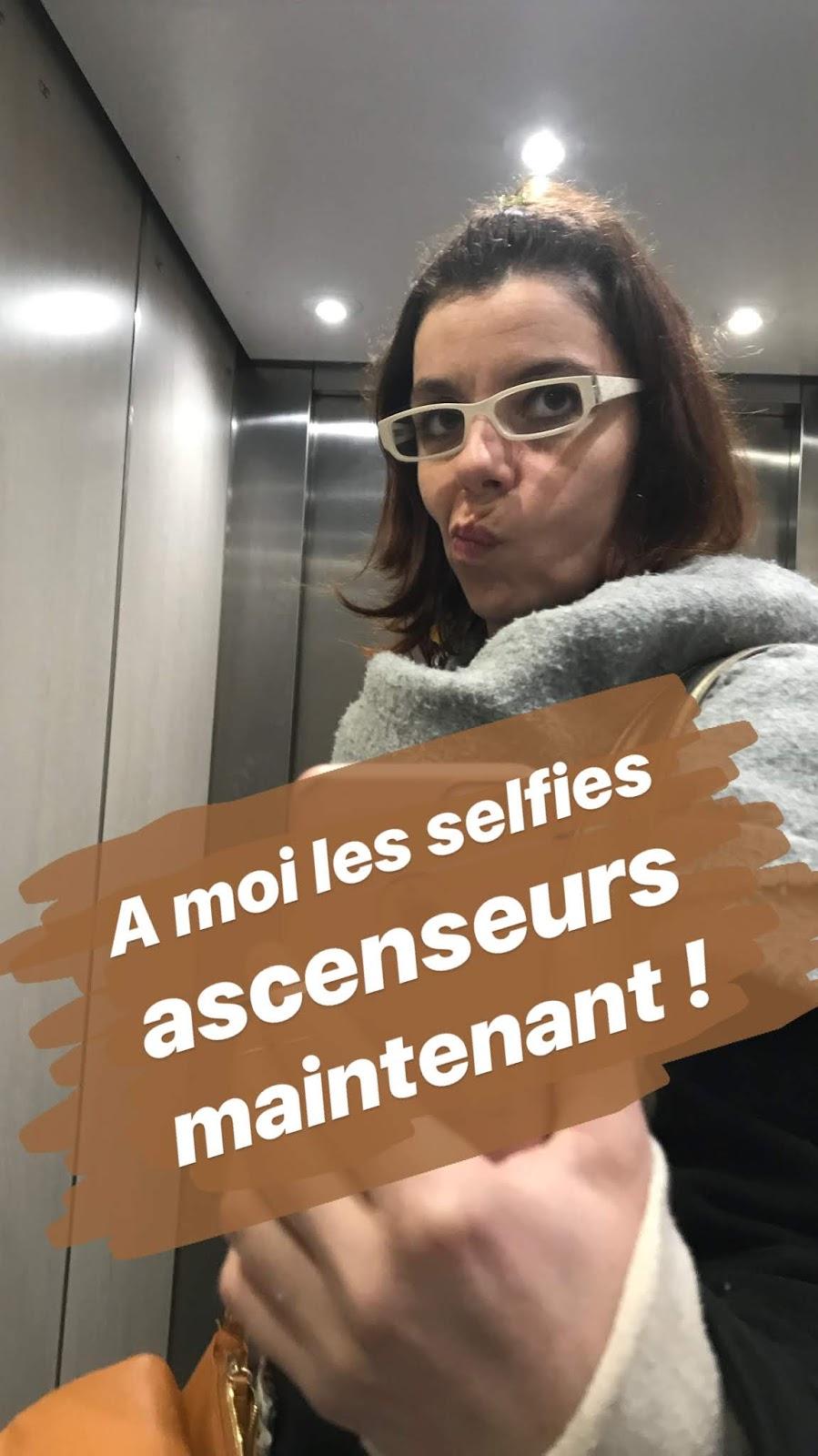 selfie ascenseur