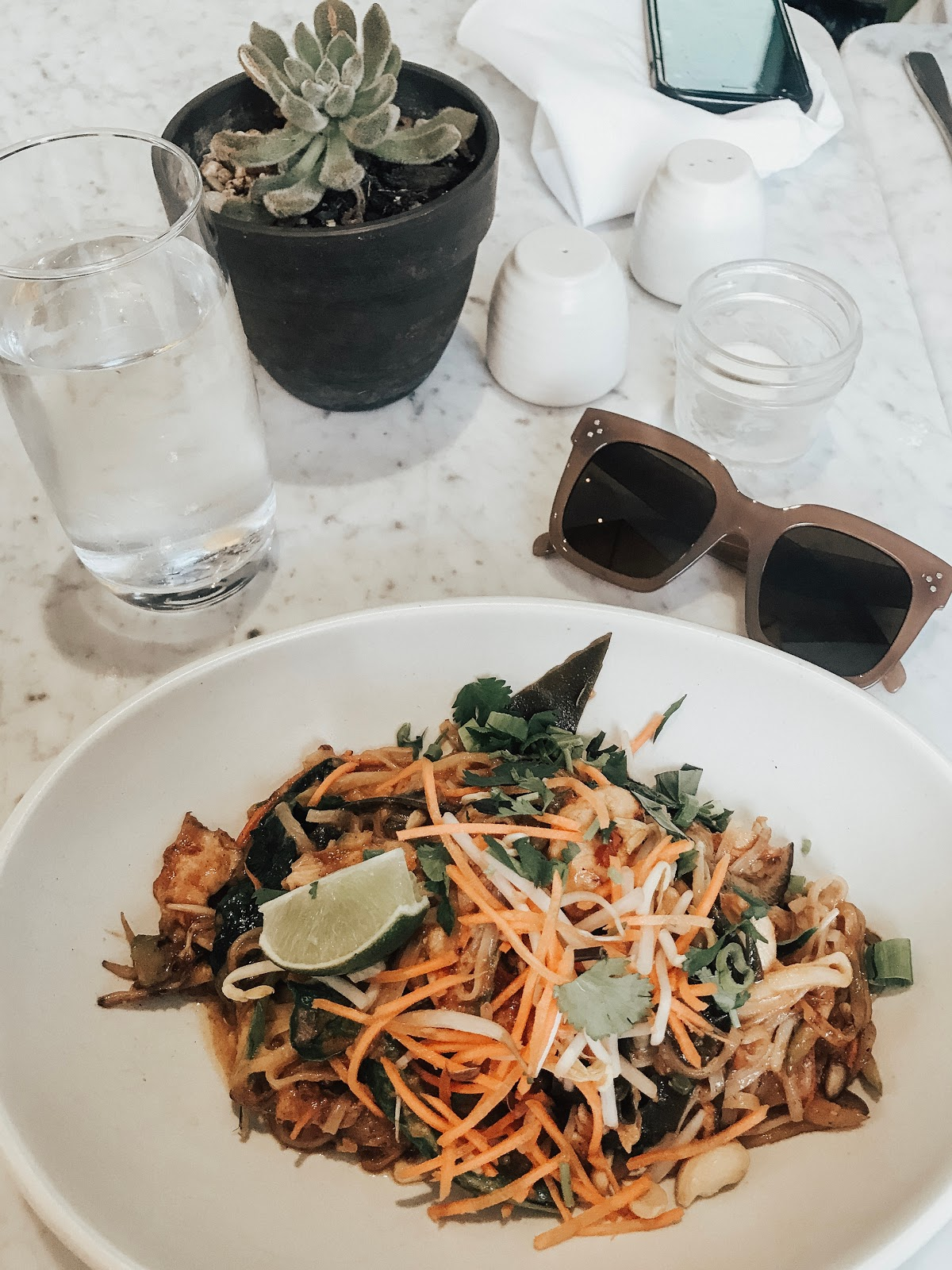Gluten free cashew Pad Thai at True Food Kitchen