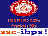 RRB NTPC Exam - 2016 :: Practice Set -7