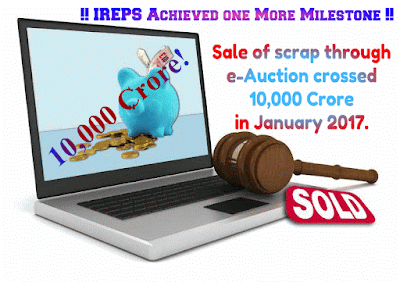 Sale of Scrap Material Through e-Auction Crossed 10,000 Crore
