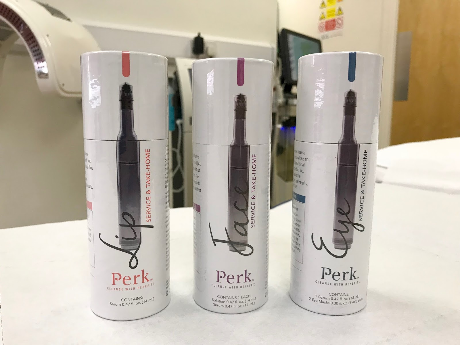 Perk facial take home products \ Medizen \ Priceless Life of Mine \ over 40 lifestyle blog