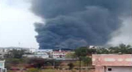 Jaipur, Rajasthan, Vishvakarma Industry Area, VKI, Poddar Factory, Fire