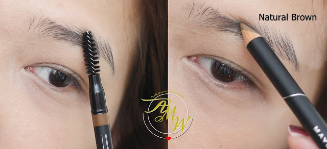 a photo on how to use Maybelline Fashion Brow Precise Shaping Pencil Natural Brown