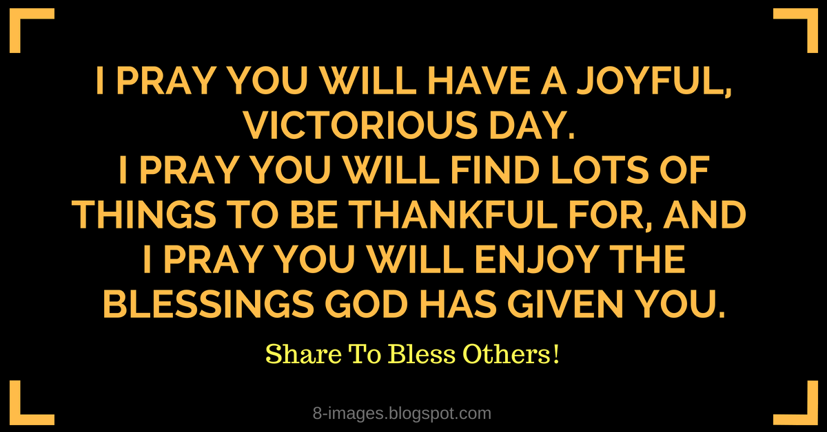 Prayer of Thanks and Praise