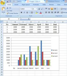 Cara Membuat Grafik di Excel 2010