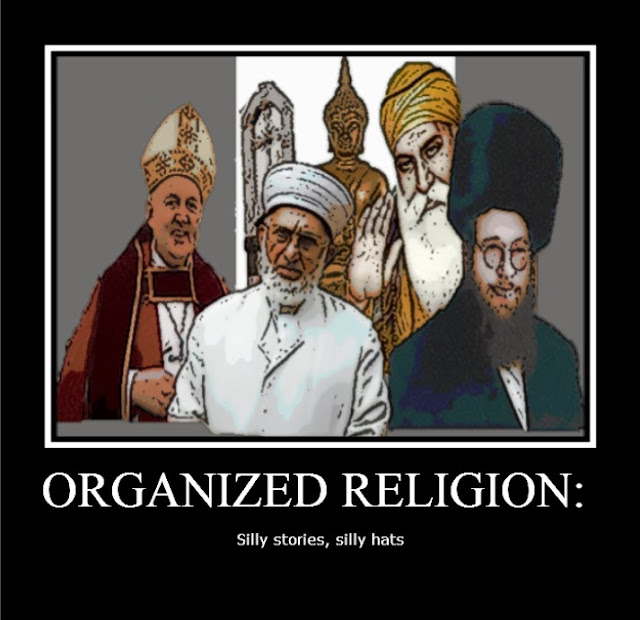 Funny Organized Religion - silly stories, silly hats