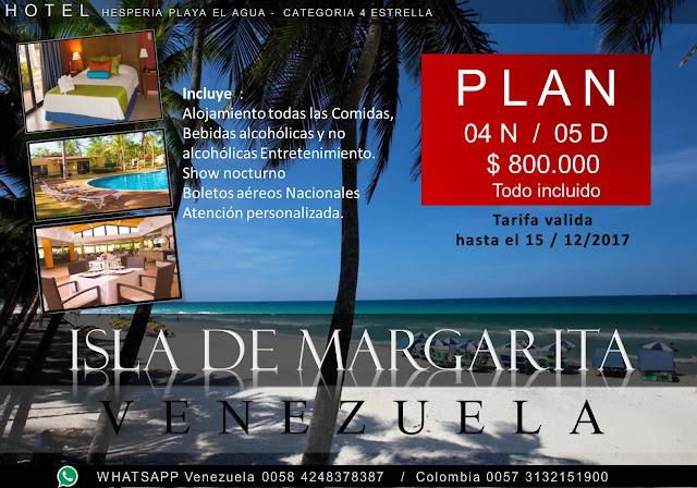 Plan 04 Noches 05 dias isla de margarita venezuela