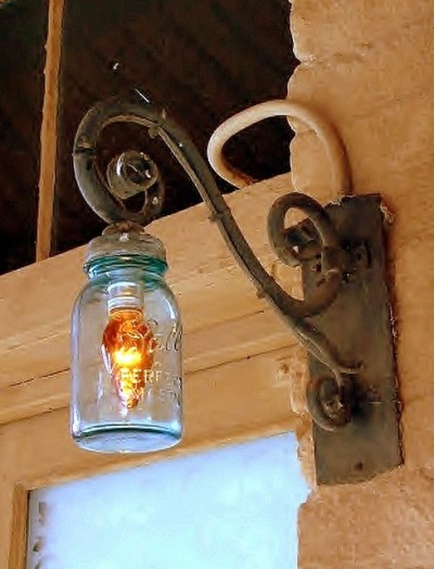 4. Mason Jar Light Post