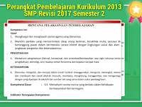 Perangkat Pembelajaran Kurikulum 2013 SMP Revisi 2017 Semester 2