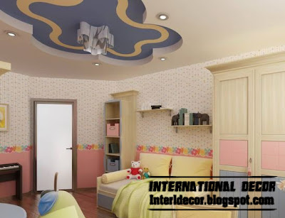 Best creative kids room ceilings design ideas, cool false ceiling of plasterboard