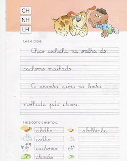 Caderno de Caligrafia - Leia e copie