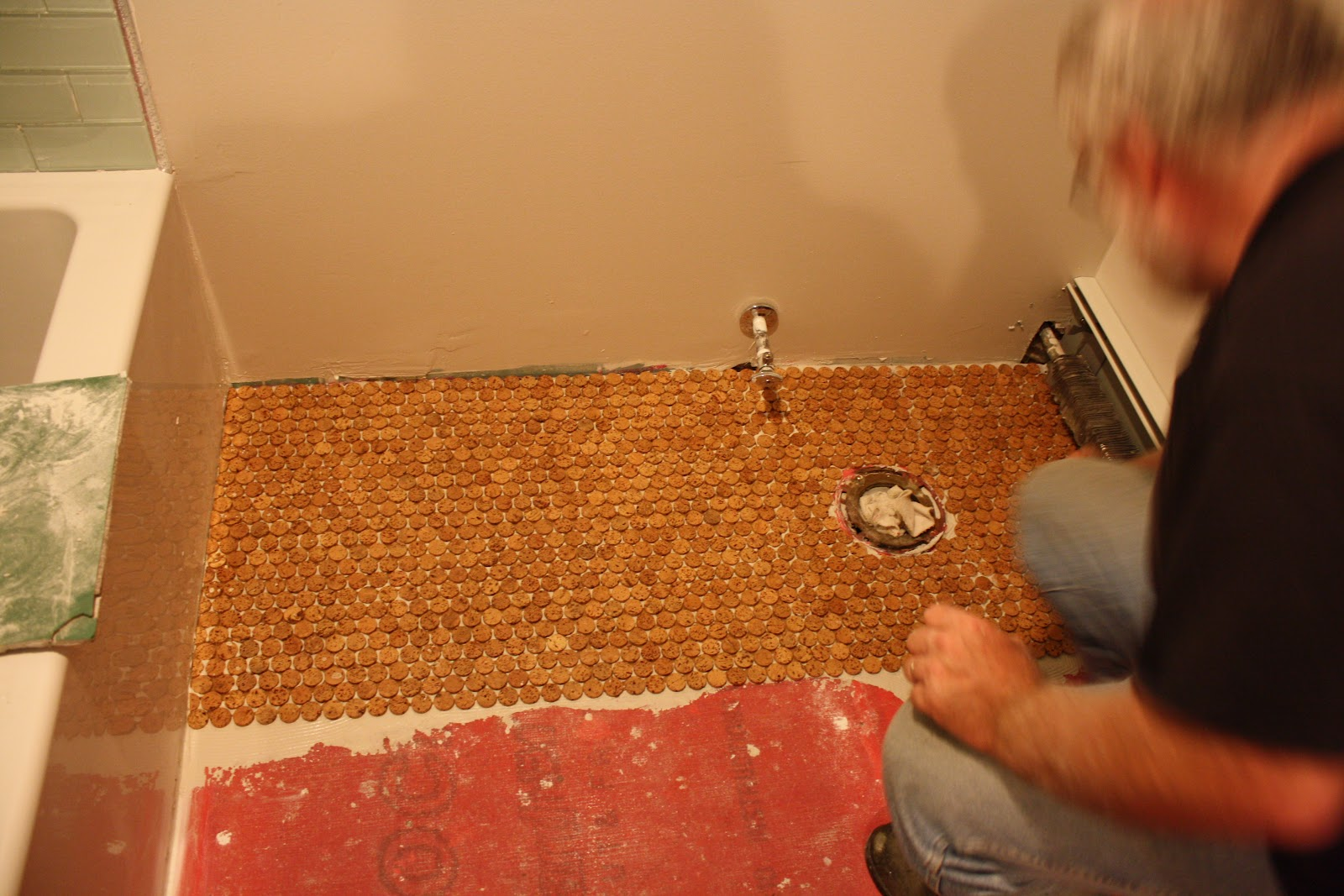 I Chose A Cork Tile In 1inch Penny Rounds Few People Thought Was Crazy And That It Would Look Dumb But Absolutely Love