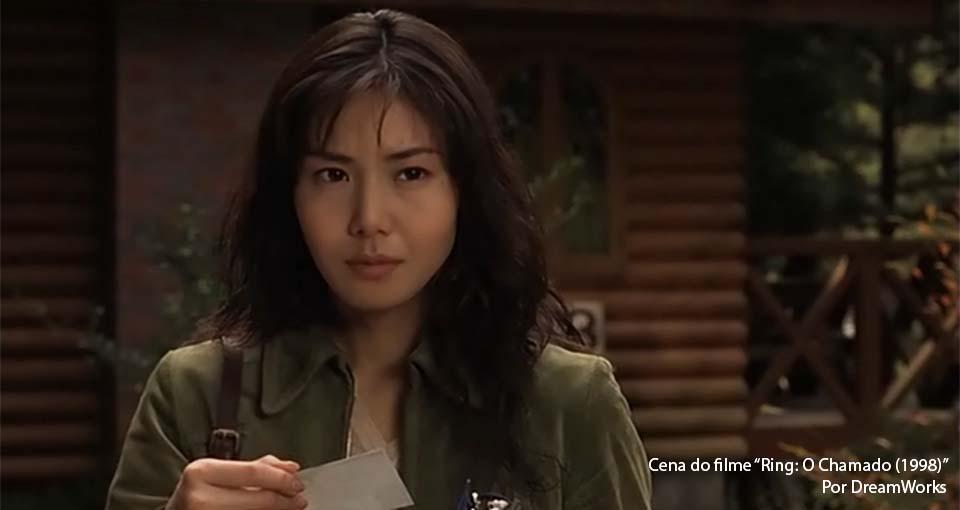 Protagonista Reiko Asakawa (Nanako Matsushima) em cena de Ring: O Chamado