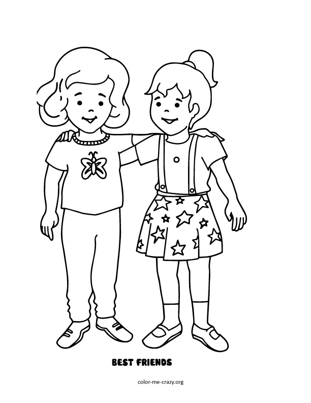 friends coloring pages for preschoolers | Friendship Coloring Pages For Preschool - Insured By Laura