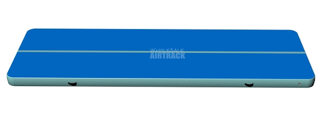 Factory direct sale tumble track gymnastics blue surface light mint side tumbling air mat