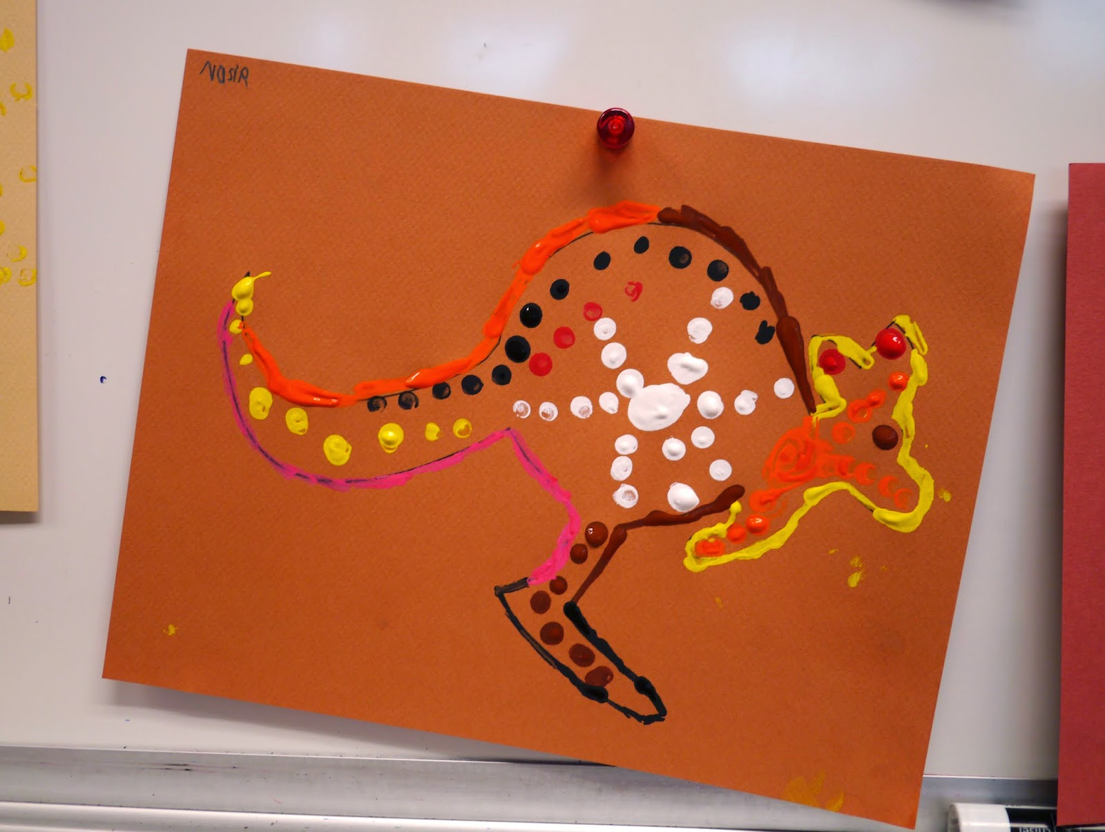 Little Hiccups Aboriginal Dot Art Activity