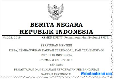 Permendesa PDTT Nomor 3 Tahun 2018