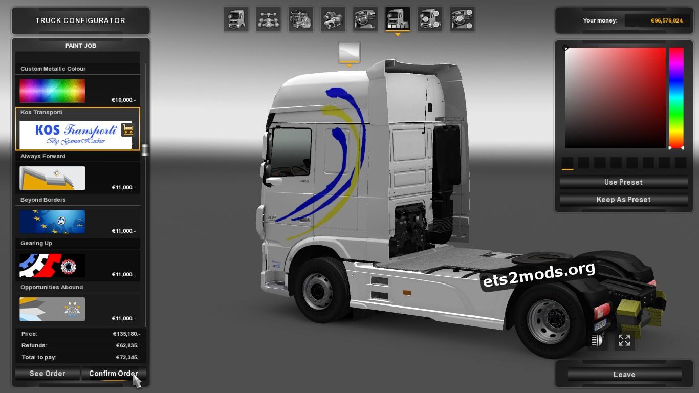 Kos Transporti Skin for DAF Euro 6