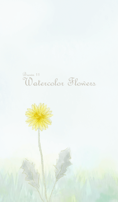 Watercolor Flowers[Dandelion]/Brown 11