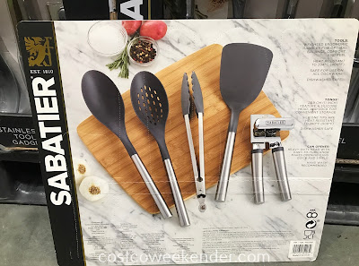 Costco 1055308 - Sabatier 5-piece Stainless Steel Kitchen Tool Set: great for any kitchen or home chef