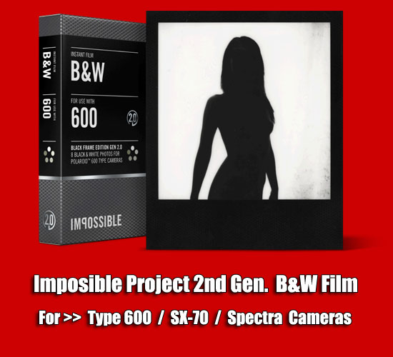 Impossible Project 2nd Gen Black and While Film