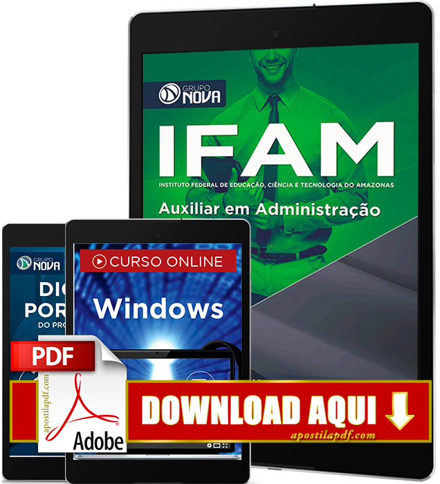Apostila IFAM 2016 PDF Download Auxiliar em Administração