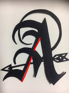 """切り絵初心者向け無料図案 アルファベットシリーズ """"A""""の切り方のコツ"""